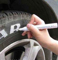 Marker pentru masina, scris culoare albă pentru anvelope