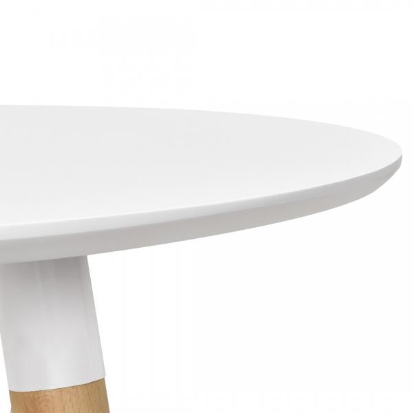 Masa bucatarie/living, design rotund cu 3 scaune - gri-3