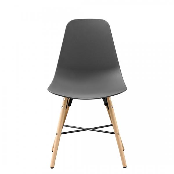 Masa bucatarie/living, design rotund cu 3 scaune - gri-5