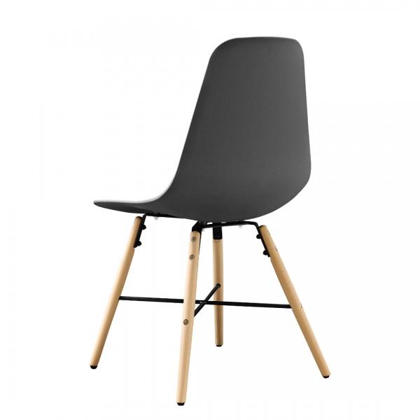 Masa bucatarie/living, design rotund cu 3 scaune - gri-6
