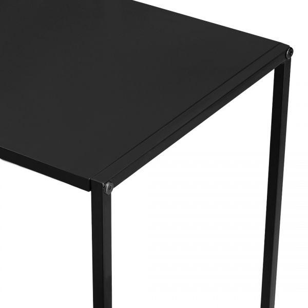 Masa consola Amanda, 109,5 x 31,5c x 94,5 cm, metal, negru-3