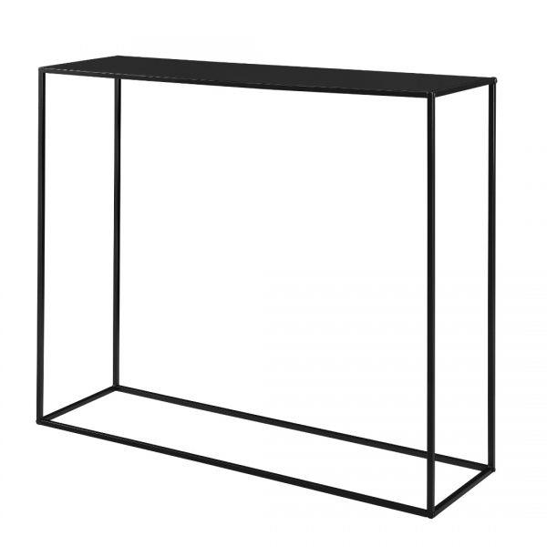 Masa consola Amanda, 109,5 x 31,5c x 94,5 cm, metal, negru-4