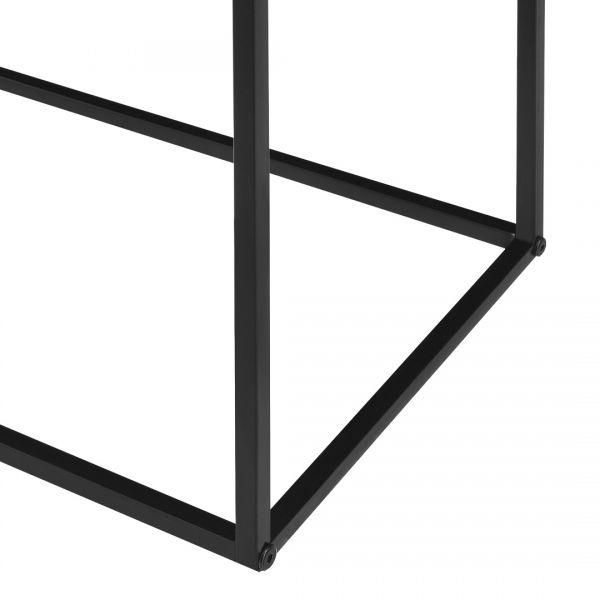 Masa consola Amanda, 109,5 x 31,5c x 94,5 cm, metal, negru-5