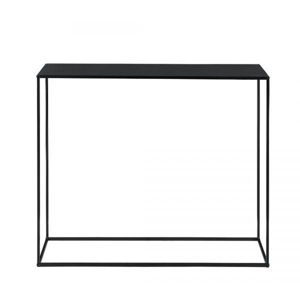Masa consola Amanda, 109,5 x 31,5c x 94,5 cm, metal, negru-6