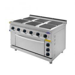 Masina de gatit 6 plite si cuptor, electrica, CLR.TC.9KE120, Ideal Ino