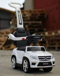 Masinuta cu maner multifunctionala 3 in 1 Mercedes GL63 White