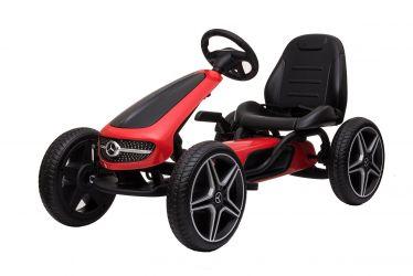Masinuta GO Kart cu pedale pentru copii de la Mercedes #Rosu