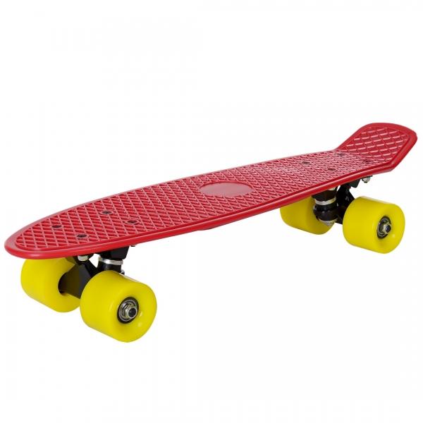 Mini retro skateboard - skateboard penny board - rosu galben-1