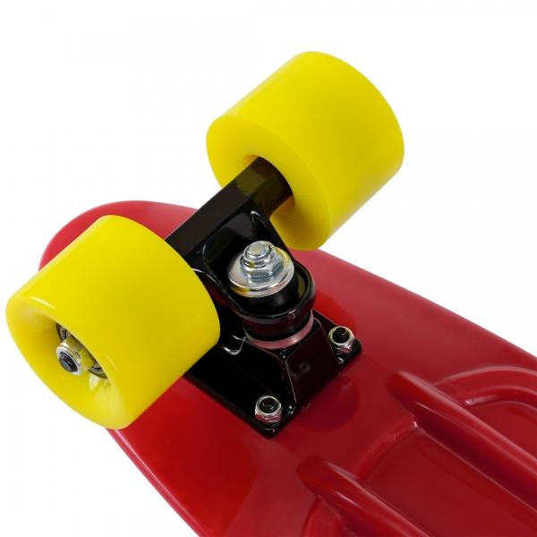 Mini retro skateboard - skateboard penny board - rosu galben-2
