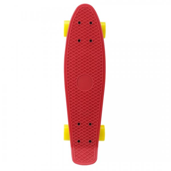 Mini retro skateboard - skateboard penny board - rosu galben-3