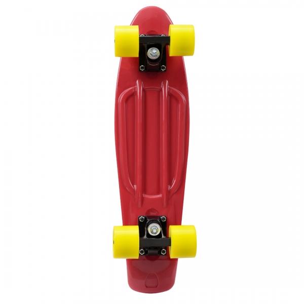 Mini retro skateboard - skateboard penny board - rosu galben-4