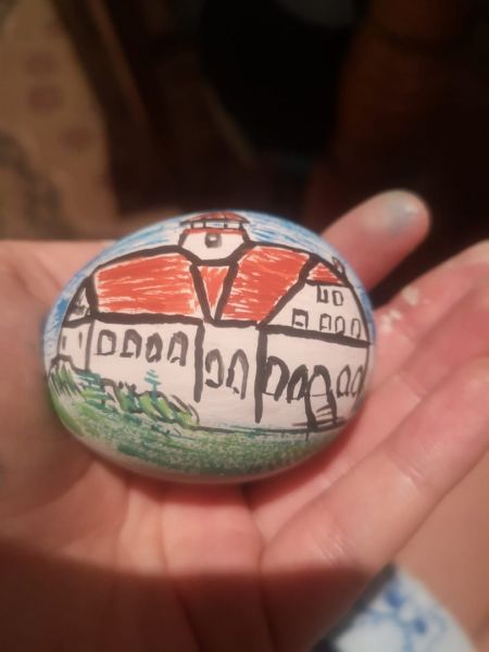 Mobiler miniatura plus oua din lemn pictate de mana zona Rimetea-4