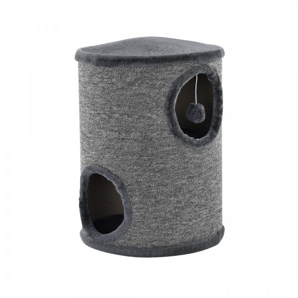 Mobilier pisici - Sisal pisici cilindru - 50 x 37 x 37cm - gri-1