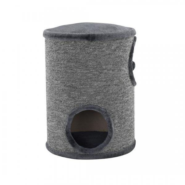Mobilier pisici - Sisal pisici cilindru - 50 x 37 x 37cm - gri-3