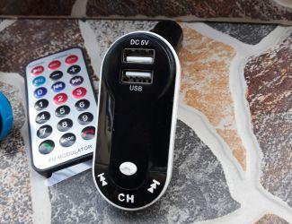 Modulator Bluetooth Masina , culoare Blue MP3 cu USB si AUX
