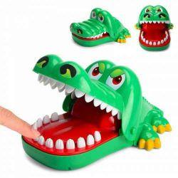 Nou jucarie crocodil muscator cu dinti funny , crocodil verde