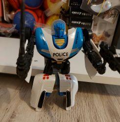 Nou Masina Politie se transforma în robot jucarii