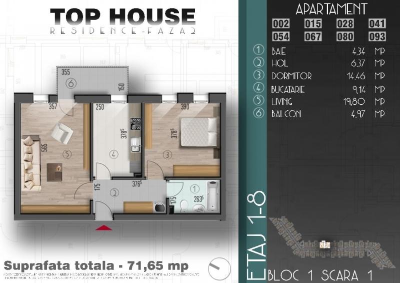 Oferta lunii! Apartament cu 2 camere la super promotie! -6