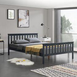 Pat lemn Wood, 208 x 148 x 82 cm, lemn/pal, 200 Kg, gri inchis