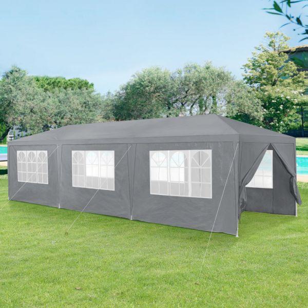 Pavilion AAGP-9604, 900 x 300 x 255 cm, polietilena, gri inchis-1