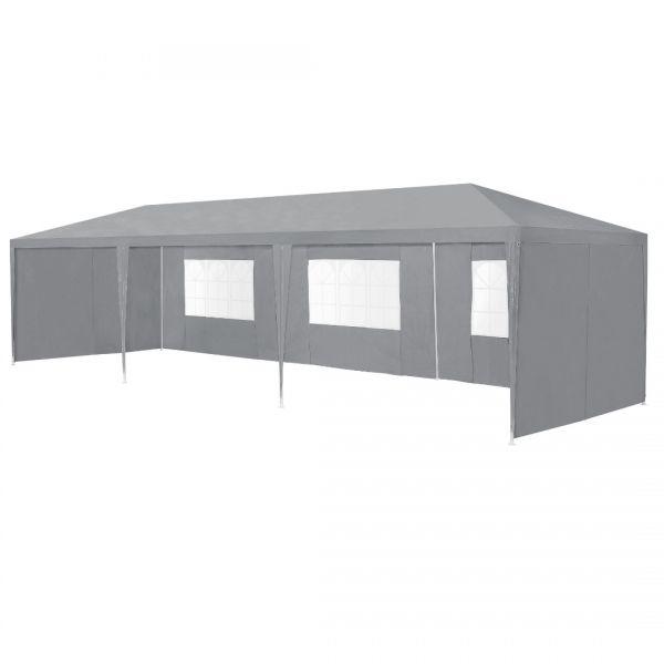 Pavilion AAGP-9604, 900 x 300 x 255 cm, polietilena, gri inchis-2