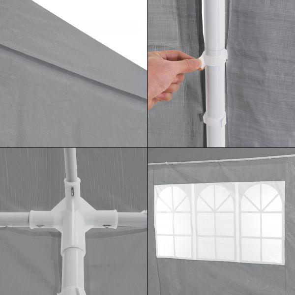Pavilion AAGP-9604, 900 x 300 x 255 cm, polietilena, gri inchis-5