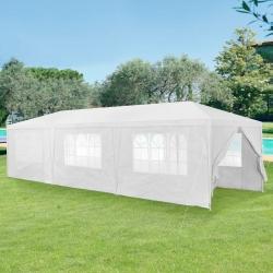 Pavilion gradina AAGP-9604, 900 x 300 x 255 cm, metal/polietilena, alb