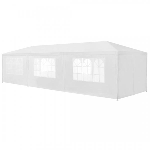 Pavilion gradina AAGP-9604, 900 x 300 x 255 cm, metal/polietilena, alb-4
