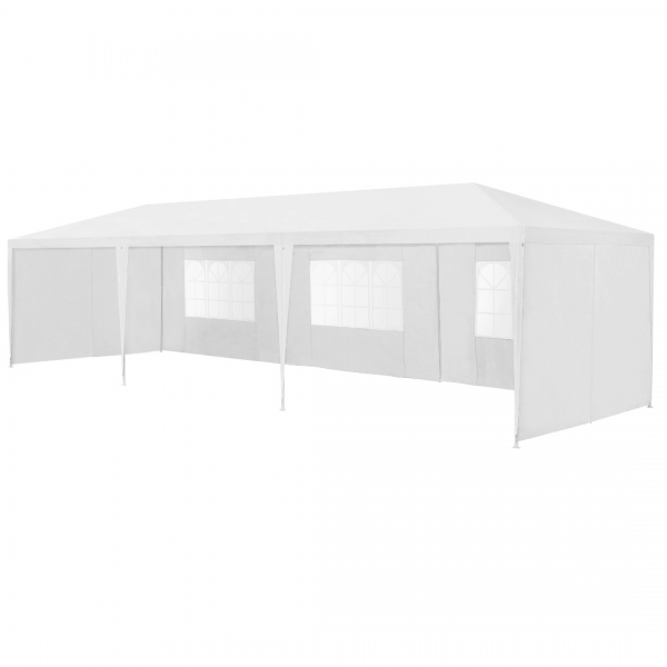Pavilion gradina AAGP-9604, 900 x 300 x 255 cm, metal/polietilena, alb-6