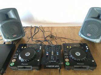 Pionier CDJ 1000 MK3 / DJM 400 Mixer / platan rotativ D.A.S monitoare