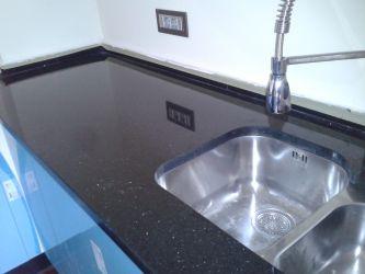 Placaj granit Black Galaxy 61X30.5X1 lucios