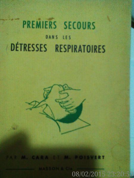 Premiers secours dans les detresses respiratoires ,Cara, 1967-1