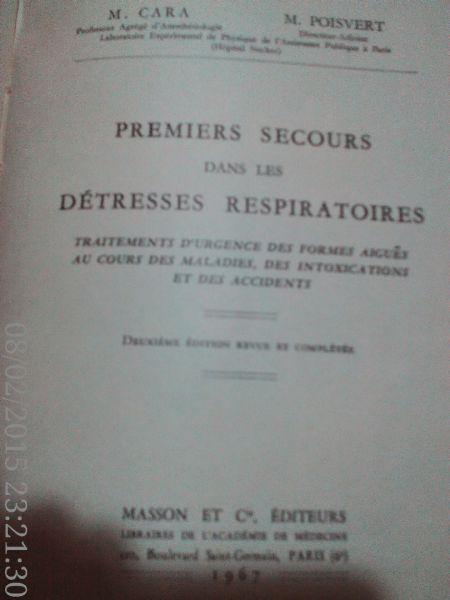 Premiers secours dans les detresses respiratoires ,Cara, 1967-2