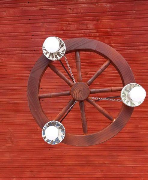 Produc lustre rustice din lemn -3