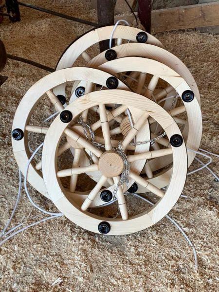 Produc lustre rustice din lemn -7