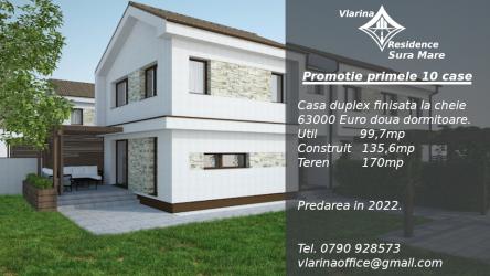 Promotie Case Duplex in viitorul cartier Vlarina Residence