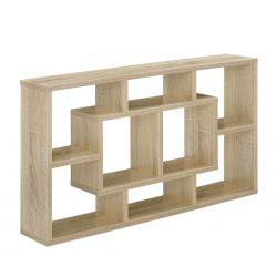 Raft de perete design, 85 x 47,5 x 16 cm, lemn/melamina, culoarea lemn