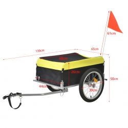 Remorca bicicleta transport bagaje ABBT-3151, 130 x 65 x 50 cm