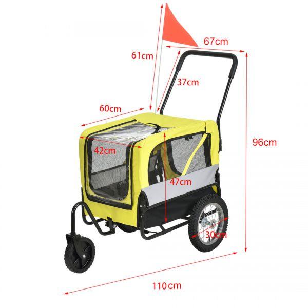 Remorca bicicleta transport caine ABBT-315x, 143 x 67 x 96 cm-6