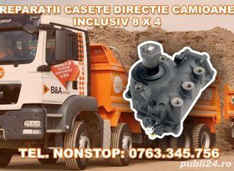 Reparatii casete directie camioane inclusiv 8x4  Reparatii