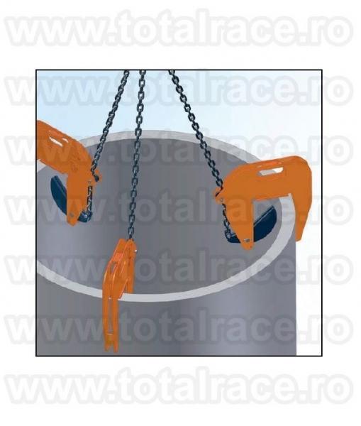 Ridicari cu clesti pentru tuburi din beton -7