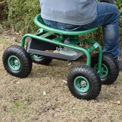 Scaun pe rotile  - pentru munca in gradina