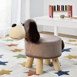 Scaun taburet catel pentru copii Pingo, model Caine, 45 x 28 x 48 cm