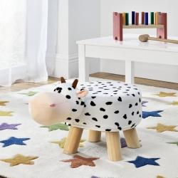 Scaun taburet pentru copii Pingo, model Vaca, 45 x 28 x 48 cm