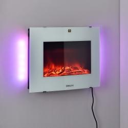 Semineu electric montabil pe perete AASL-6204, 65 x 13,5 x 46 cm