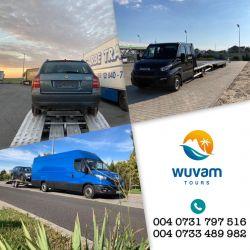 Servicii de transport persoane, colete și mașini pe platformă