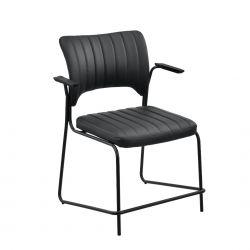 Set 2 bucati scaune birou, 83 x 47cm, piele sintetica, negru