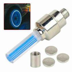 Set 2 leduri albastre pentru valve roti bicicleta