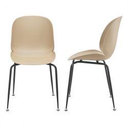 Set 2 scaune bucatarie Viola Beige 85 x 46 x 58 cm metal plastic