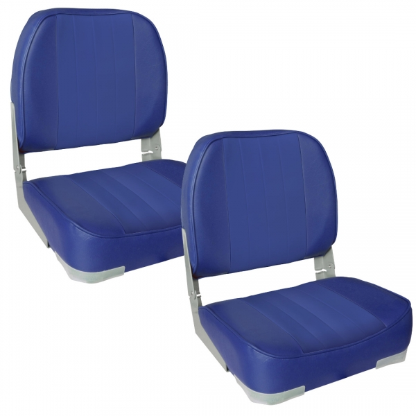 Set 2 scaune Magelan 1, 490 x 400 x 390 mm, imitatie piele, albastru-1